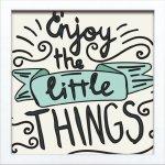 【アートフレーム】サインフレーム ちょっとしたことを楽しもう Enjoy the little THINGS ゆうパケット