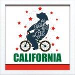 【アートフレーム】サインフレーム サイクリング イン ライフ カリフォルニア ゆうパケット