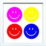 【アートフレーム】サインフレーム スマイル 笑顔 ニコちゃんマーク 4色 ゆうパケット