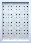 【壁掛けボードフレーム】ペグボード パンチングボード 有孔ボード ホワイト 400x500mm