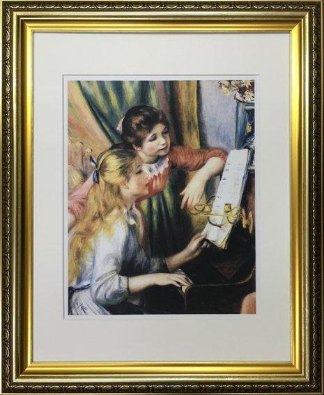 【名画】ルノワール ピアノに寄る娘たち