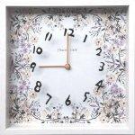 【時計】アーティスト クロック 二木ちかこ フラワー1