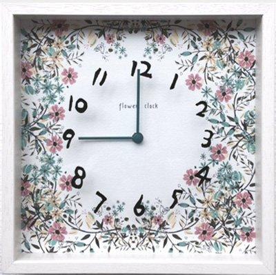 【時計】アーティスト クロック 二木ちかこ フラワー2