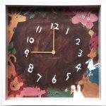 【時計】アーティスト クロック 二木ちかこ アニマルズ2