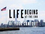 【キャンバスパネル】アートパネル ライフ ビギンズ 日常の殻を破ったところから、あなたの真の人生が始まる