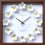 【時計】プルメリア クロック 白