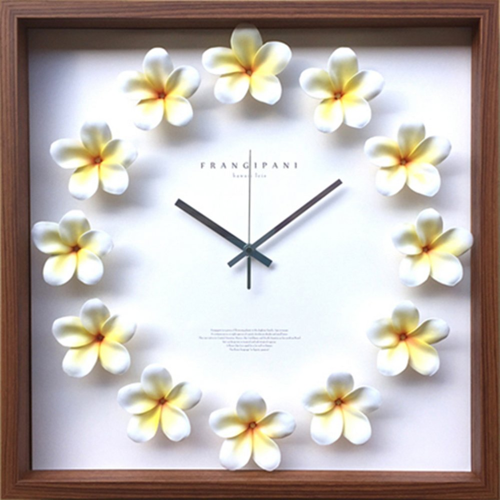【時計】プルメリア クロック 黄色