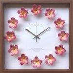 【時計】プルメリア クロック ピンク