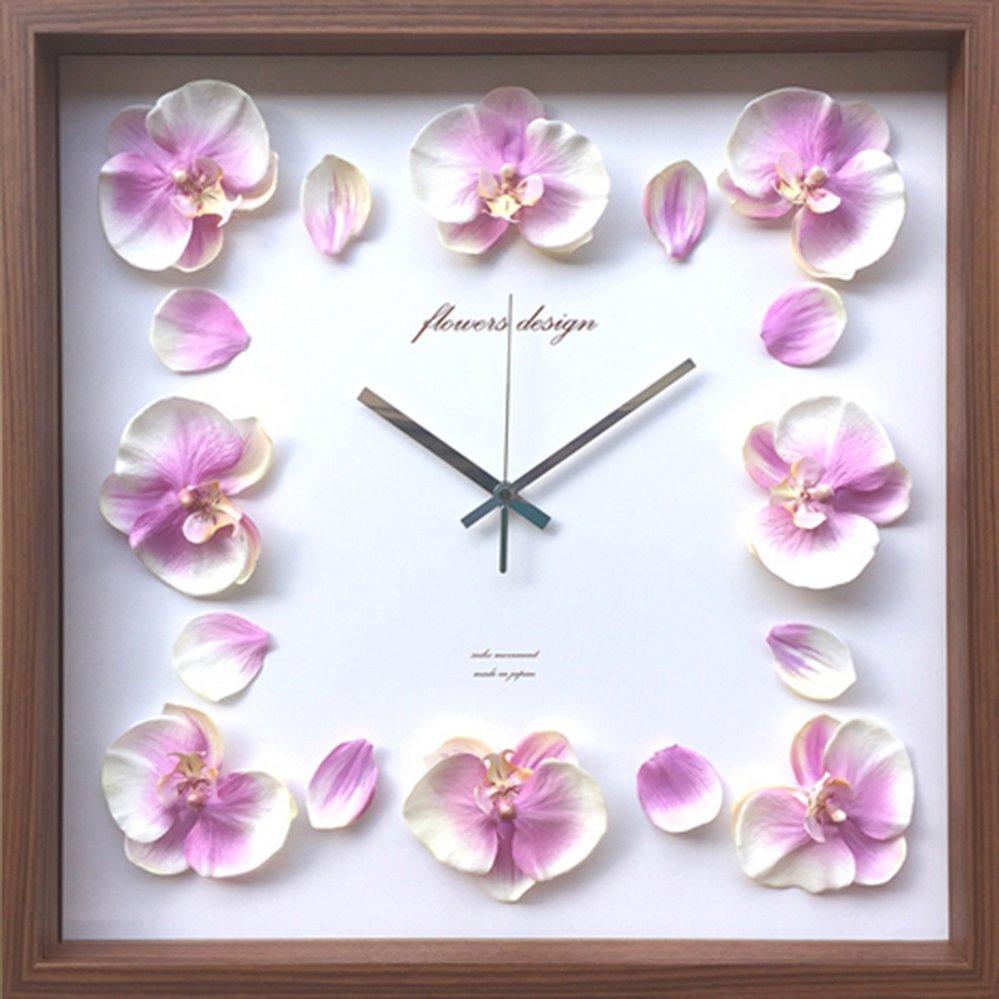 【時計】オーキッド クロック 洋ラン 紫