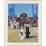 【アートフレーム】リサとガスパール アートフレーム Lサイズ「TOKYO STATION」