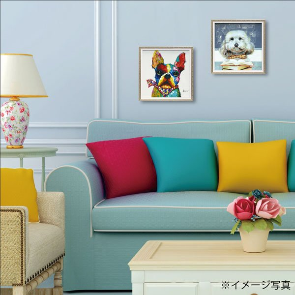 【絵画 油絵】オイル ペイント アート「バンダナ ブル(Sサイズ)」