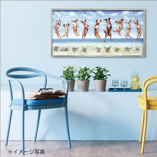 【絵画 油絵】オイル ペイント アート「ジャンピング ドッグス」