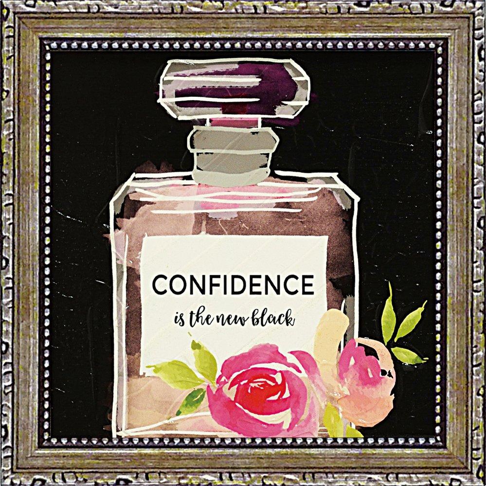 【絵画】ミニゲル アートフレーム ベラ ドス サントス「コンフィデンス イズ ザ ニュー ブラック」ゆうパケット