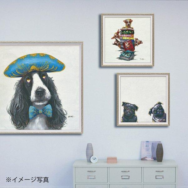 【絵画 油絵】オイル ペイント アート「ナポレオン ドッグ(Mサイズ)」