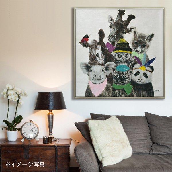【絵画 油絵】オイル ペイント アート「アニマルズ(Lサイズ)」
