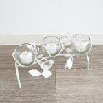 【花瓶】アイアンフラワーベース(LED付き) インテリア 壁掛け アート モダン おしゃれ シンプル モダン アジアン アンティーク