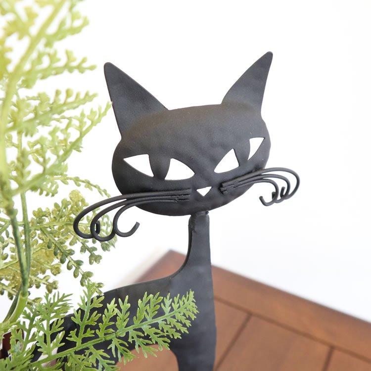 【花瓶】販促品、ノベルティーにも♪ 一輪挿し フラワーベース ネコ 黒 インテリア 壁掛け アート モダン おしゃれ シンプル モダン アジアン アンティーク