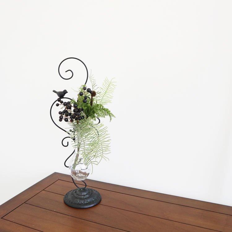 【花瓶】販促品、ノベルティーにも♪ 一輪挿し フラワーベース 花瓶 トリ 黒 インテリア 壁掛け アート モダン おしゃれ シンプル モダン アジアン アンティーク
