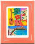 《水彩画・アートフレーム》Hawaii 〔栗乃木ハルミ くりのき はるみ 〕