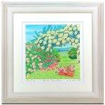 《水彩画・アートフレーム》Rose Garden 〔栗乃木ハルミ くりのき はるみ 〕