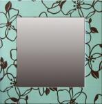 《インテリア ミラー》Fabric Mirror(ファブリック ミラー 花 青)