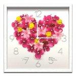 《時計 壁掛け》Atelier Charles Clock Pink Heart