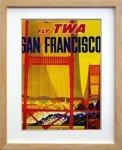 《ポスターフレーム》Air Line Trans World Air Lines SanFrancisco(エアライン エアライン トランス・ワールド航空 サンフランシスコ)(ゆうパケット)