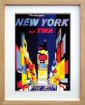 《ポスターフレーム》Air Line Trans World Air Lines New York(エアライン エアライン トランス・ワールド航空 ニューヨーク)(ゆうパケット)