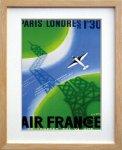 《ポスターフレーム》Air Line Pari-London(エアライン パリ ロンドン)(ゆうパケット)
