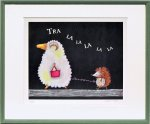 《絵画》藪上 陽子 羊とハリネズミ