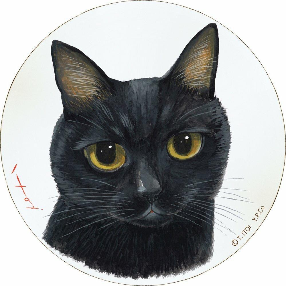 【壁掛け】糸井忠晴 木製ラウンドアート「ヤマト(Lサイズ)」