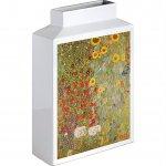 【花瓶】ミュージアムアート フラワーベース(Mサイズ・タテ)「クリムト(サンフラワー)」
