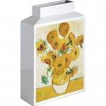 【花瓶】ミュージアムアート フラワーベース(Lサイズ・タテ)「ゴッホ(ひまわり)」
