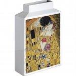 【花瓶】ミュージアムアート フラワーベース(Lサイズ・タテ)「クリムト(ザ・キス)」