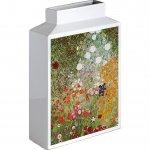 【花瓶】ミュージアムアート フラワーベース(Lサイズ・タテ)「クリムト(フラワーガーデン)」