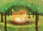 《絵画》 久松ひろこ クリスタルのハート (Hiroko Hisamatsu)