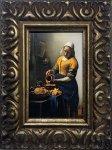 《名画》 フェルメール 牛乳を注ぐ女 (Famous Artist Mini Vermeer Das Michmadchen)
