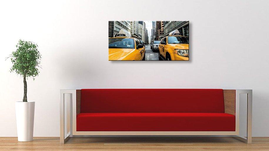 《キャンバスアート》アーバンスタイルM ニューヨーク イエローキャブ(URBAN STYLE M CANVAS ART New York/Yellow Cab)