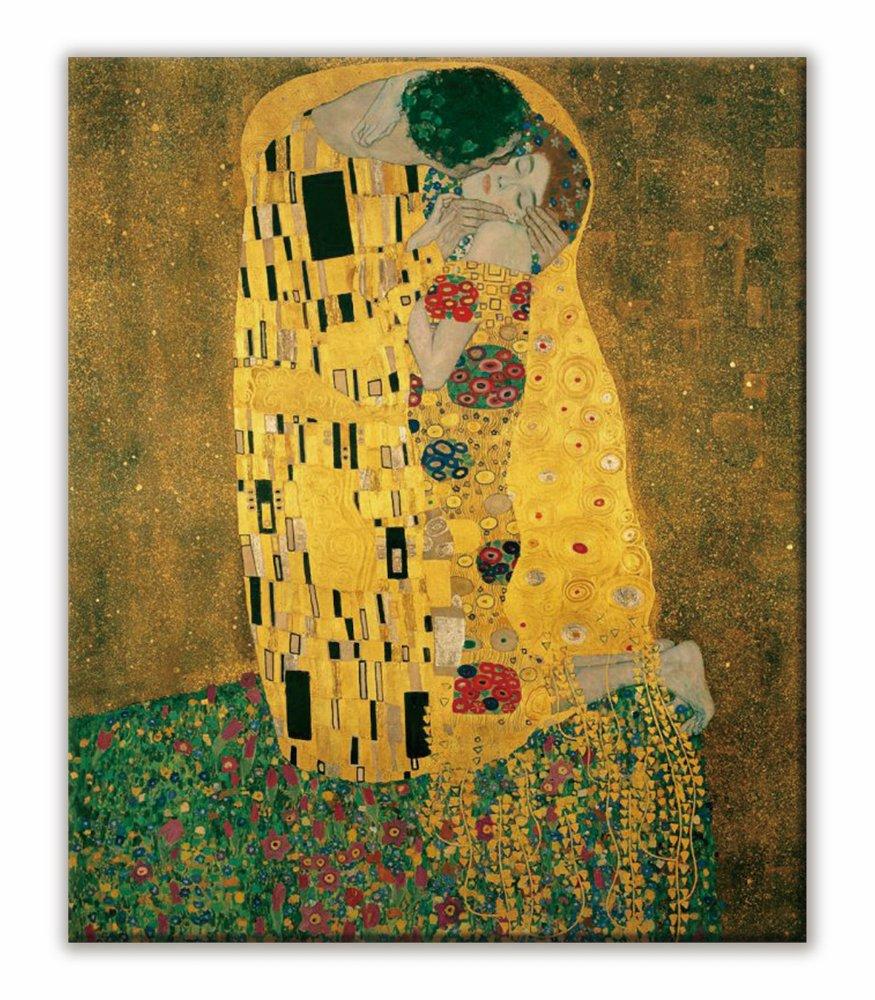 《名画キャンバスアート》グスタフ・クリムト 接吻 (Gustav Klimt)