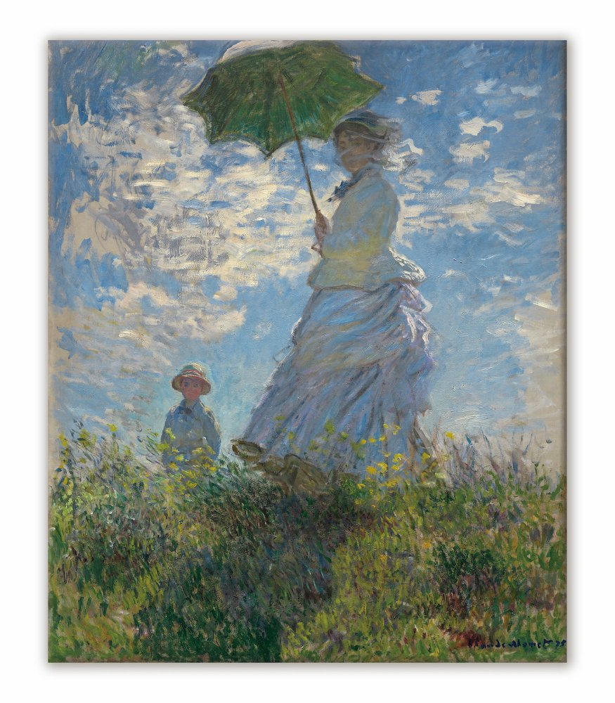 《名画キャンバスアート》クロード・モネ 散歩、日傘をさす女 (Claude Monet)
