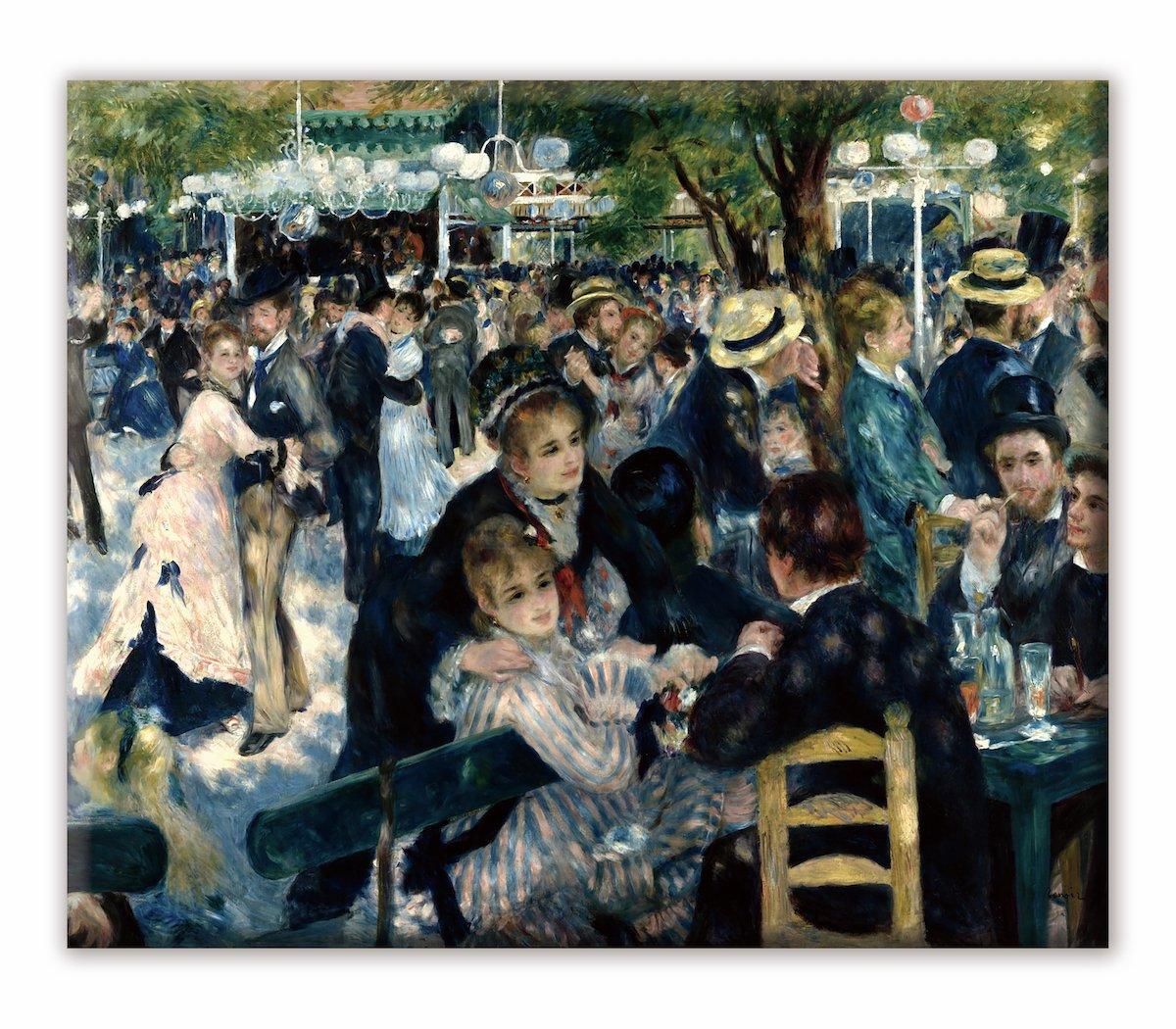 《名画キャンバスアート》ルノワール ムーラン・ド・ラ・ギャレットの舞踏会 (Pierre-Auguste Renoir )