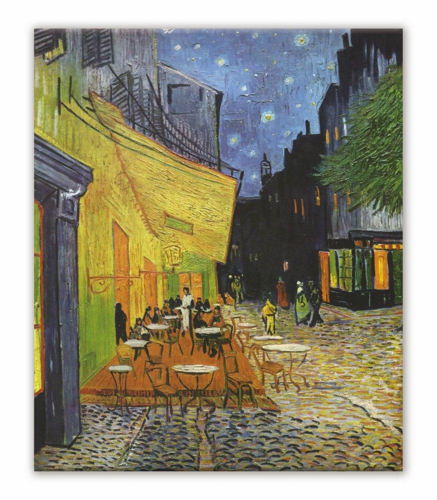 《名画キャンバスアート》フィンセント・ファン・ゴッホ 夜のカフェテラス (Vincent van Gogh)