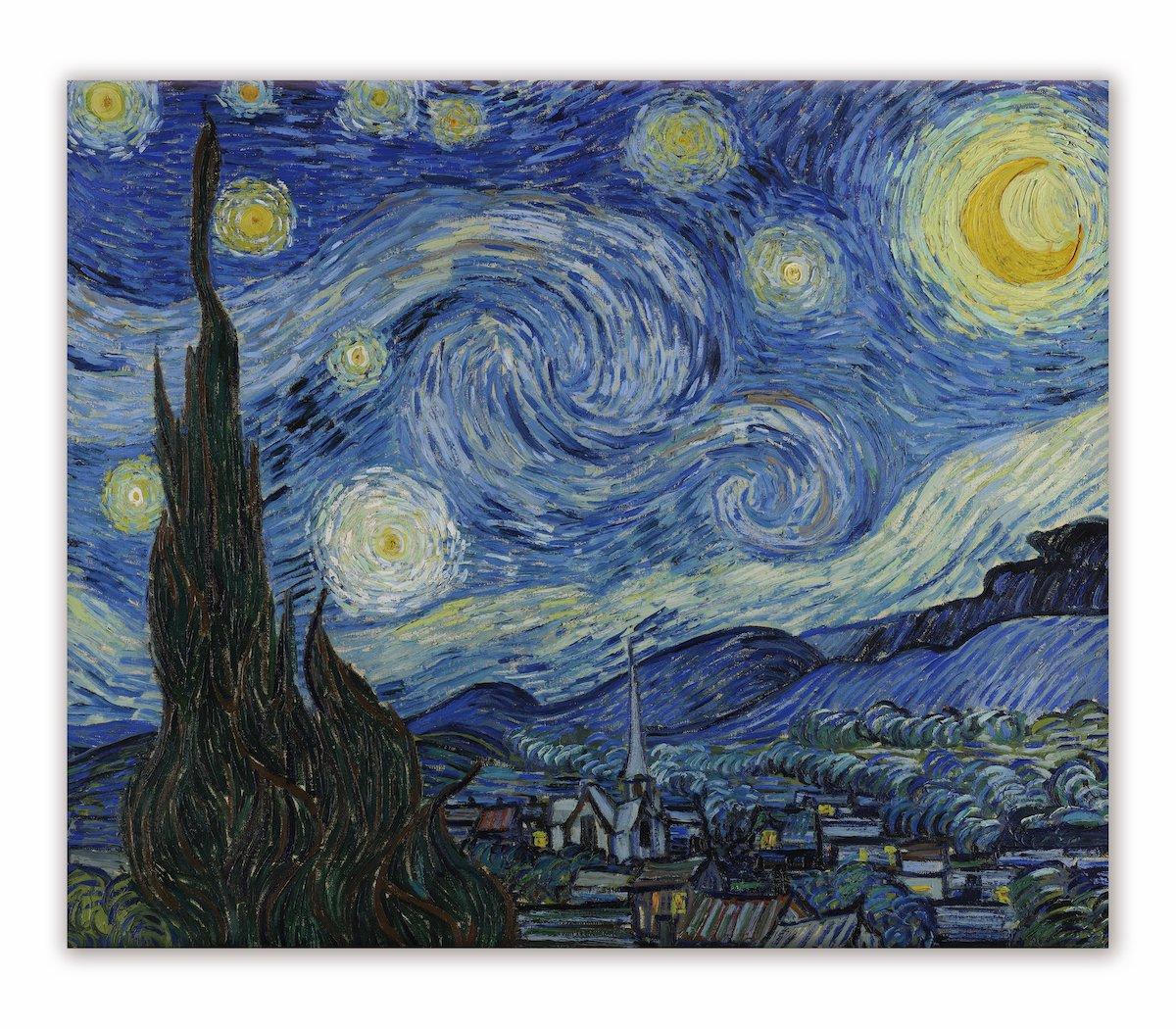 《名画キャンバスアート》フィンセント・ファン・ゴッホ 星月夜 (Vincent van Gogh)