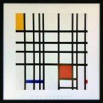 《アートフレーム》ピエト・モンドリアン オポジションオブラインズ・レッドアンドイエロー(Piet Mondrian Opposition of Lines,Red and Yellow)