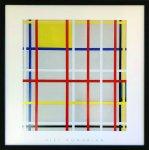 《アートフレーム》ピエト・モンドリアン ニューヨークシティ3(Piet Mondrian New York City,3)