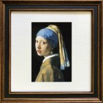 《名画アートフレーム》フェルメール 真珠の耳飾りの少女(Vermeer )(ゆうパケット)