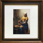 《名画アートフレーム》フェルメール 牛乳を注ぐ女(Vermeer )(ゆうパケット)
