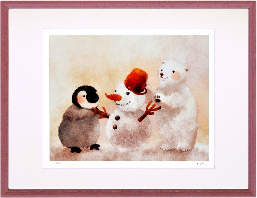 《絵画》菜生(nao) 夕暮れの雪遊び