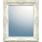 鏡 グレース アート ミラー「アーサーL(アンティークホワイト)」/鏡 壁掛けアンティーク おしゃれ スクエア 四角 メイク 美容 お化粧 顔 インテリア 新築祝い 改築祝い