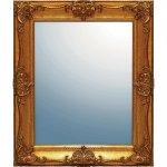 鏡 グレース アート ミラー「アーサーL(アンティークゴールド)」/鏡 壁掛けアンティーク おしゃれ スクエア 四角 メイク 美容 お化粧 顔 インテリア 新築祝い 改築祝い